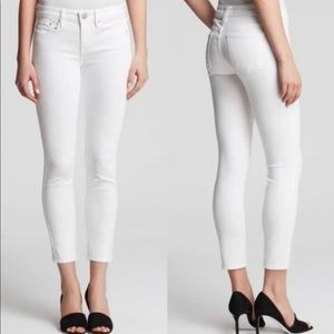 Vince Dylan Ankle Skinny Jeans White Mint